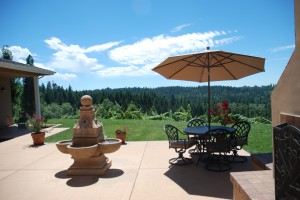 Every Vineyard needs a Patio to Entertain and Enjoy the View