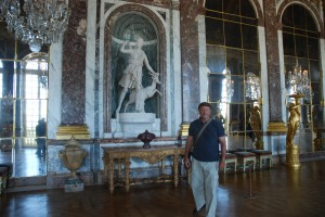 Steve in the Hall of Mirrors in Versailles